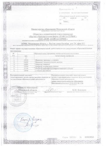 Лицензируемые специальности от 2013 года